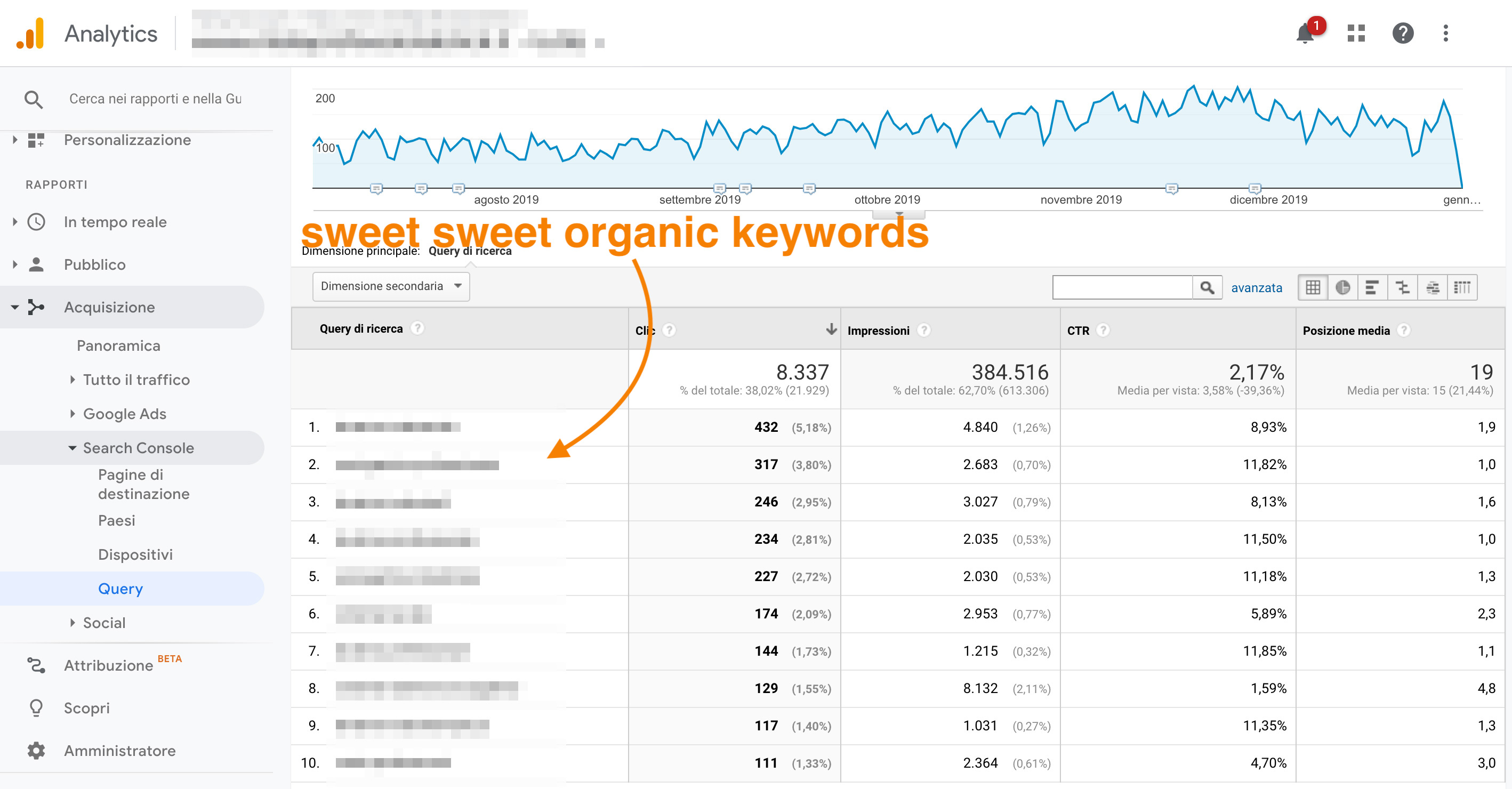 report search console